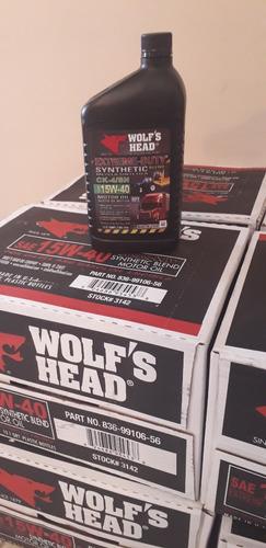 aceite semisintetico 15w40 wolf head