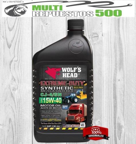 aceite semisintetico 15w40  wolf head somos tienda con punto
