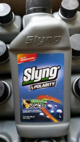 aceite semisintetico 15w40  y 20w50 marca slyng