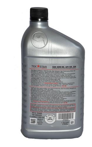 aceite semisintetico 20w-50 tek stars. nos  volvimos locos