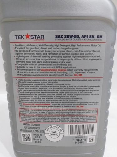 aceite semisintetico 20w50
