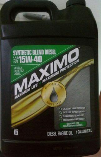aceite semisintetico, gasolina/diesel caja 3 uni x 3.8lt
