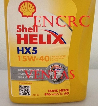 aceite shell 15w40 helix mineral para carros
