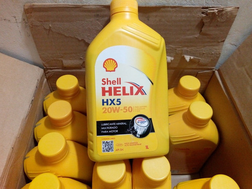 aceite shell helix 20w-50  / 15w-40 mineral  original sellad