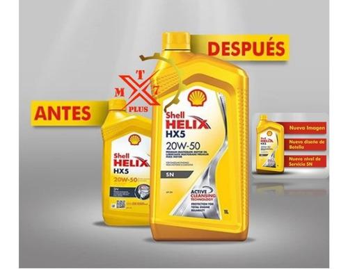 aceite shell helix hx5 mineral 20w50 x litro/garrafa sellado