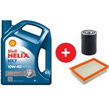 aceite (shell hx7 10w40) + filtros para fiat uno fire 1.3