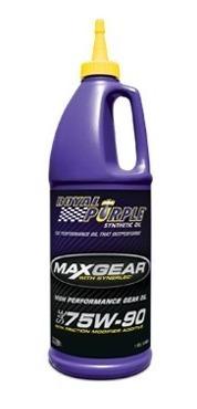 aceite sintetico max-gear 75w90, 85w140 marca royal purple