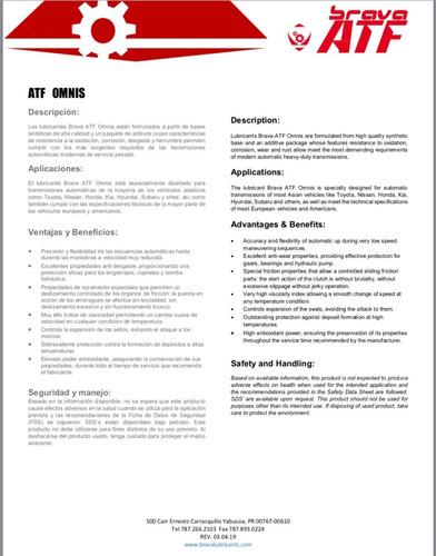 aceite transmisión atf4, mercon lv, atf ws,  z1, sp i/ii/iii