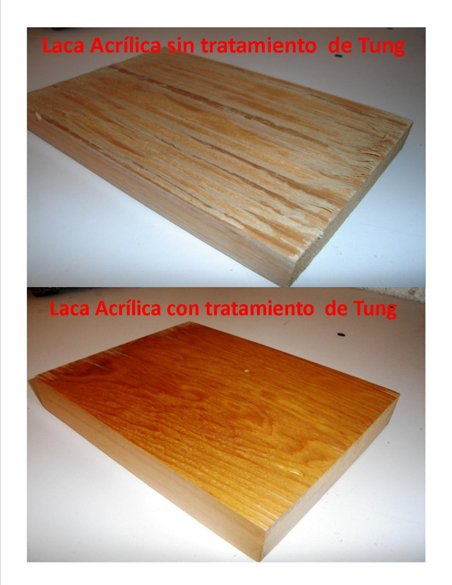 Aceite tung protecci n natural para madera en exterior 1 for Aceite para muebles de madera