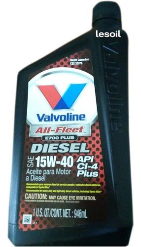 aceite valvoline all fleet plus 15w40 origen usa 1 litro