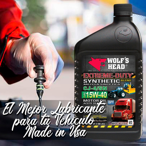 aceite wolf head 15w40 semisintetico oferta