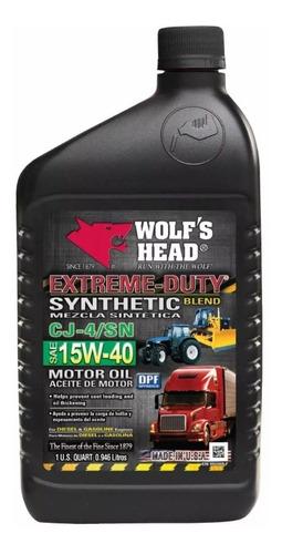 aceite wolf's head 15w-40 somos tienda fisica