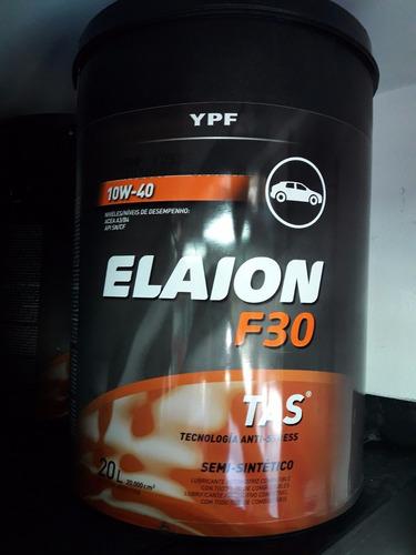 aceite ypf elaion f30 10w40 semisintetico x 20 lts.