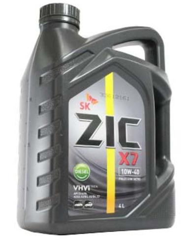 aceite zic 10w40 diesel api ci-4 100% sintetico 4 litros