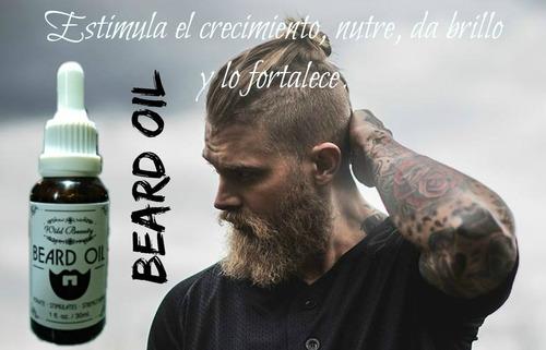 aceites para barba, estimula crecimiento, nutre y fortalece