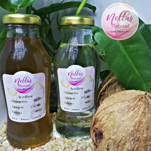 aceites y jabones 100% naturales desde 60ml
