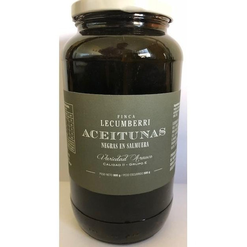 aceitunas negras finca lecumberri x500grs