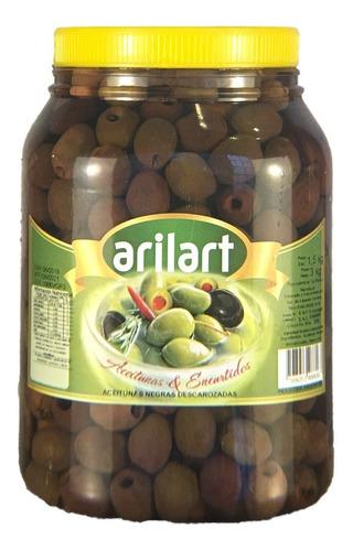 aceitunas negras sin carozo descarozadas 1,5 kg arilart