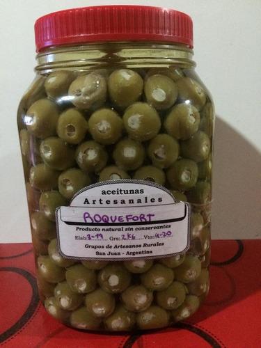 aceitunas verdes rellenas con roquefort x 2kg