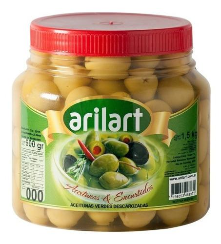 aceitunas verdes sin carozo descarozada 000 x 900 gr arilart