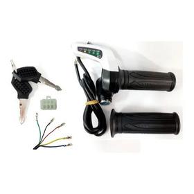 Acelerador Completo Bicicleta Elétrica 5 Fios 36v / 48v