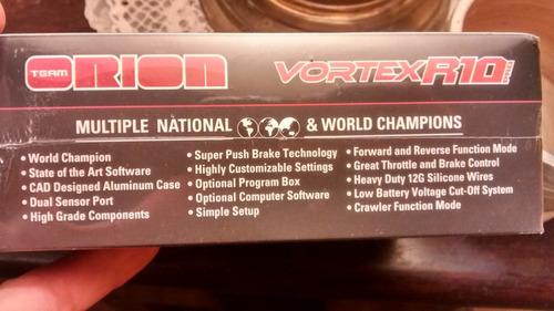 acelerador esc team orion vortex r10 pro 160/760 amp 2-3s