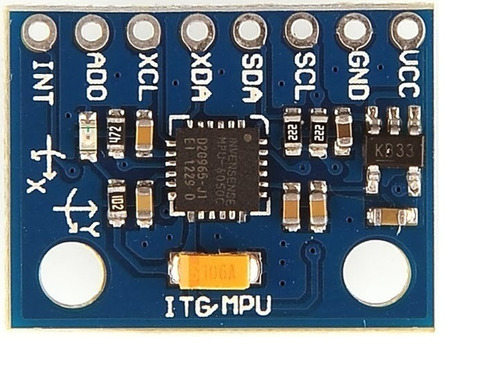acelerómetro y giroscopio de 3 ejes gy-521 (mpu-6050)