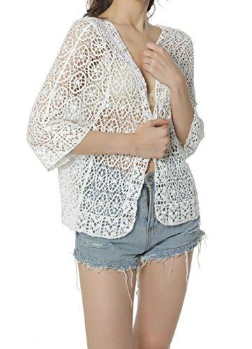 acemi kimono de encaje floral para mujer para playa talla ú