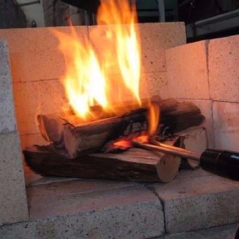 acendedor elétrico p churrasqueiras a carvão e lareiras 650w