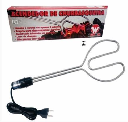 acendedor elétrico para churrasqueira a carvão e lareira