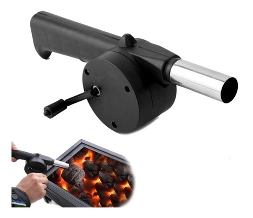 acendedor soprador de churrasqueira ventilador lareira inox