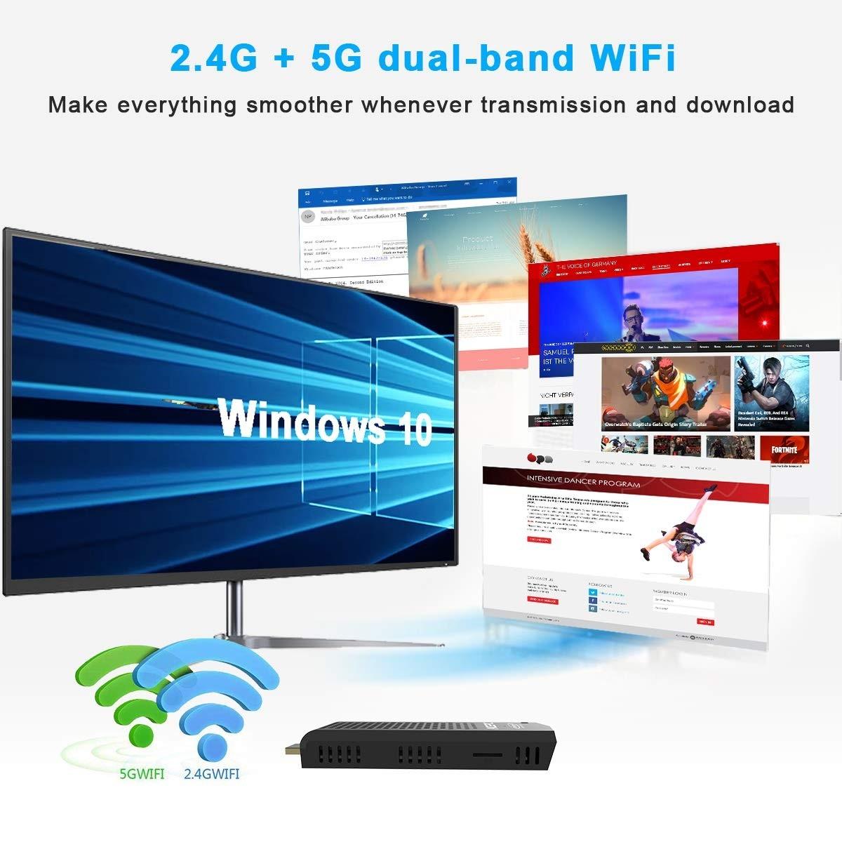 Acepc Mini Pc Intel Atom Z8350 Windows 10 Pro Stick 2gb/32gb