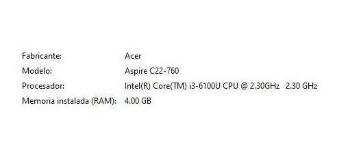 acer aspire (all in one) desktop