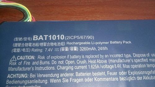 acer iconia a500 repuesto bateria bat1010 3260mah original