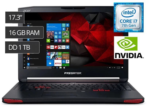 acer laptop g5-793-70n9 17.3  core i7 1tb 256gb 16gb sellado