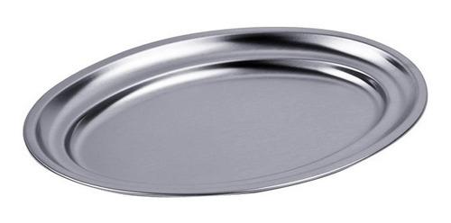 acero inoxidable charola ovalada de servicio 25 cms