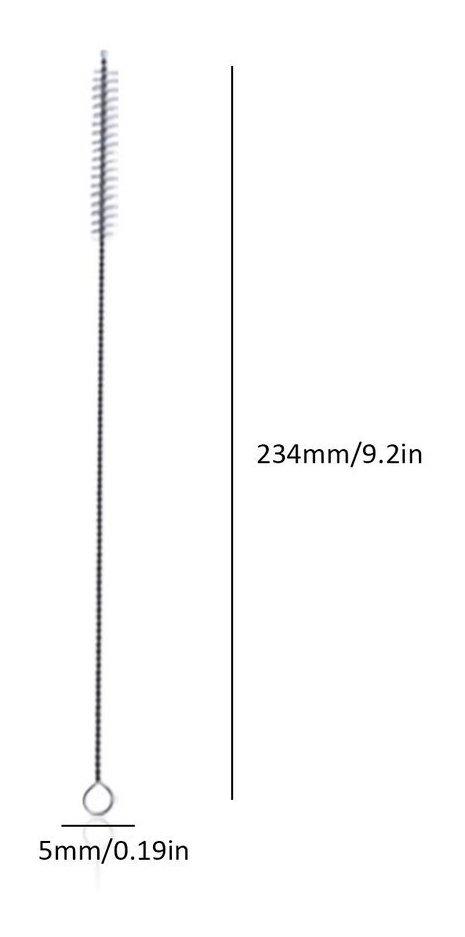 BlackEdragon Paja de Beber port/átil de Acero Inoxidable Aprobado por la FDA Extra Largo Reutilizable Metal Tubo de Paja Cepillo Limpio Accesorios para Barra de Fiesta