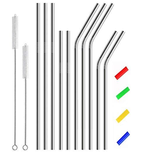 Acero Inoxidable Pajas Metal Beber Final Pajas Reutilizable ... f46d9626176