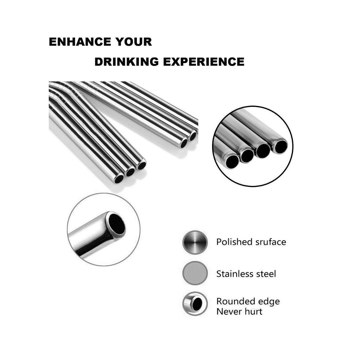 acero inoxidable pajas metal beber final pajas reutilizable. Cargando zoom. d39a02d539f