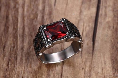 acero zirconia anillo