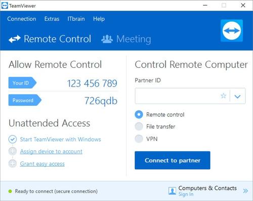 acesso remoto teamwear 2019 + reset id envio agora