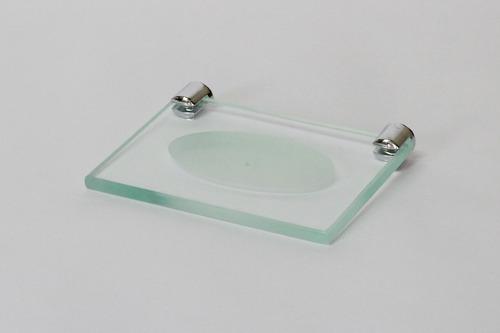 acessório banheiro kit 5 pçs vidro retangular