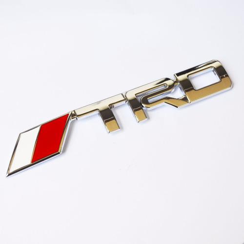 acessório toyota emblema trd p/ grade hilux rav4 corolla