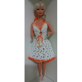 5a3ccbcdaaa5 Vestido De Croch Para Boneca Barbie - Brinquedos e Hobbies no ...