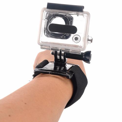 acessórios caixa estaque protetora pulseira rotação gopro 4