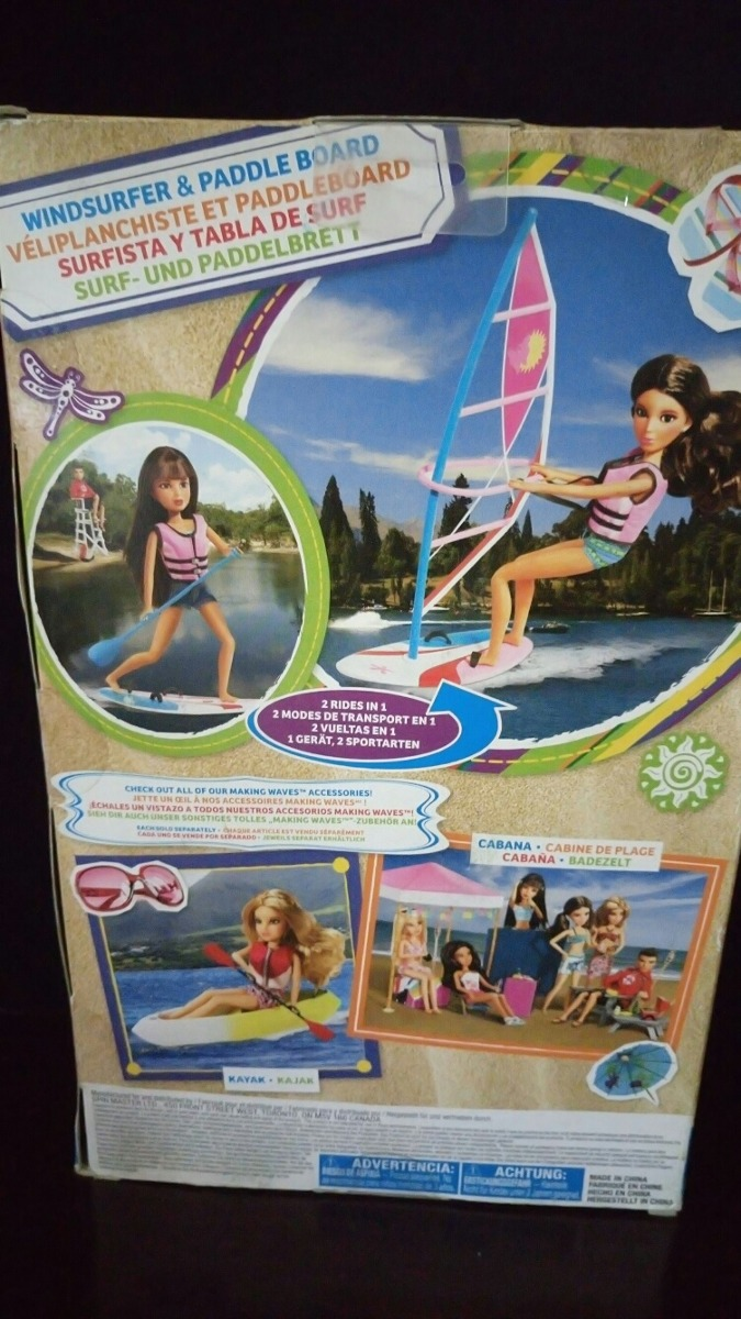 Acessorios Da Boneca Liv Windsurfer E Paddle Board