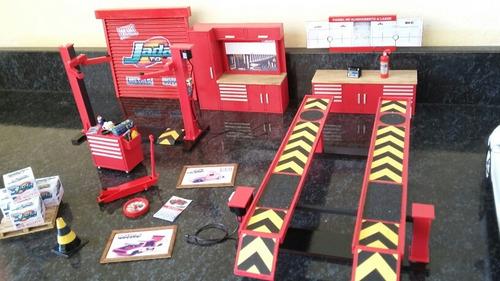 acessórios diorama maquete oficina mecânica kit novo