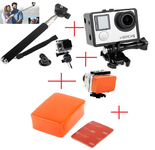 acessórios e suportes kit hero 2 3 3+ 4 hd lcd kit gopro