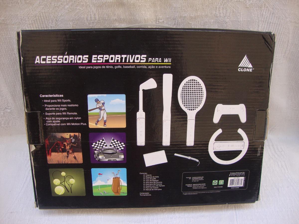 496e14b44 Kit Acessórios De Esporte Para Nintendo Wii - R  29