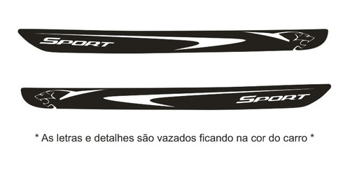 acessórios faixa peugeot 207 4/p adesivo lateral tuning